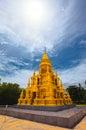 Laem sor pagoda golden pagoda at koh samui island thailand Royalty Free Stock Image