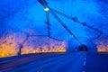 Laerdal tunnel, Norwegia długi w świacie Zdjęcia Royalty Free