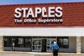 Lafayette - Circa June 2017: Staples Inc. Retail Location. Staples is a Large Office Supply Chain VI Royalty Free Stock Photo