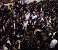 Lag baomer on mount meron israel may orthodox jews dance at the annual hillulah of rabbi shimon bar yochai in holiday this is an Royalty Free Stock Photo