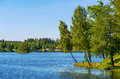 Lagan river in stromsnasbruk sweden europe Stock Photography