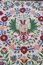 Lagartera embroideries sewing jobs embroidery craft tablecloths Royalty Free Stock Photography