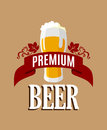 Lager beer banner or template for brewery industry or alcohol design Royalty Free Stock Photography