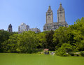 Lago central park Foto de Stock Royalty Free