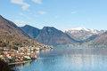 Lago como italy village in the shore of in Royalty Free Stock Photo
