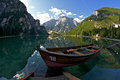 Lago di Braies Stock Images