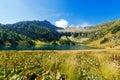 Lago di campo adamello trento italy lake m small beautiful alpine lake in the national park of brenta trentino alto adige Stock Photography