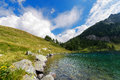 Lago di campo adamello trento italy lake m small beautiful alpine lake in the national park of brenta trentino alto adige Royalty Free Stock Photography