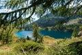 Lago di campo adamello trento italy lake m small beautiful alpine lake in the national park of brenta trentino alto adige Stock Photo