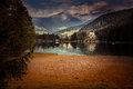 Lago di dobiacco toblacher see indolomite alps italy europe Royalty Free Stock Photography