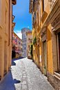 Lago di Garda town of Sirmione colorful street view Royalty Free Stock Photo