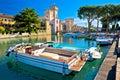 Lago di Garda town of Sirmione view, Royalty Free Stock Photo
