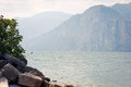 Lago di garda a view of the famous lake veneto italy Stock Images