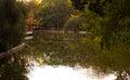 Lago en la estación del otoño Imagen de archivo libre de regalías