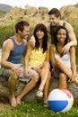 Lago friends Fotos de Stock Royalty Free