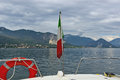 On the lago maggiore with boat Royalty Free Stock Photo