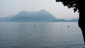 Lago Maggiore, Italy - Moody lake Royalty Free Stock Photo