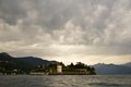 Lago maggiore italy view of nasty weather Stock Photography