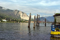 On the lago maggiore summerday beautiful in italy near stresa Royalty Free Stock Image