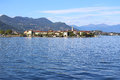 Lago maggiore view of italy Stock Photo