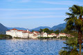 Lago maggiore view of italy Stock Photos