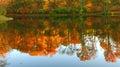 Lago mirror in autunno Immagini Stock Libere da Diritti