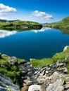 Lago mountain en Rumania Imagen de archivo