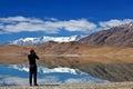 Lago tso kar en ladakh la india del norte Imagen de archivo