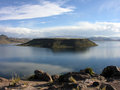 Lago umayo in the peruvian andes next to lake titicaca Stock Images