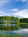 Lago y cloudscape summer Imágenes de archivo libres de regalías