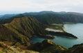 Lagoa do Fogo. Azores islands Royalty Free Stock Photo
