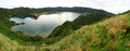 Lagoa do Fogo Panorama 01 Stock Afbeeldingen
