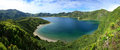 Lagoa do Fogo Panorama 13 Stock Fotografie