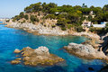 Lagoon at Lloret de Mar Stock Photo