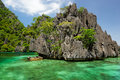 Lagoons and Rocks of Coron Island, Philippines Royalty Free Stock Photo