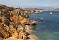 Lagos Coastline Portugal Royalty Free Stock Images