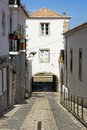 Lagos entrance way architecture into old town of algarve portugal Stock Photography