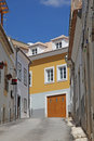 Lagos street scene a traditional in portugal this coastal town is a popular tourist destination Royalty Free Stock Photo