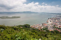 Laguna city and landscape santa catarina brazil the of at the shore of the atlantic ocean state south of Stock Photography