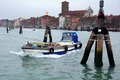 Laguna nord of venice bridges and boats sailing in the Royalty Free Stock Images