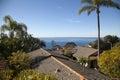 Laguna rooftops overlooking at beach california Stock Photography