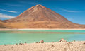 Laguna verde in bolivian altiplano Royalty Free Stock Photo