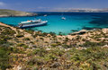 Lagune bleue - Comino - Malte Photo stock