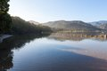 Lagune på naturs dal Arkivfoton