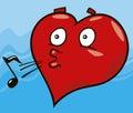 Laidback heart Royalty Free Stock Photos