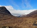 Lairig ghru cairngorms scotland in may devil point to the left and carn a mhaim to the right Stock Images