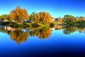 Lake in Alentejo. Royalty Free Stock Photo