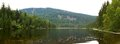Lake arber – großer arbersee a panoramic image of one of eight glacial lakes located in bayerischer wald bavaria germany Royalty Free Stock Photo