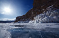 Lake baikal winter Royalty Free Stock Photos