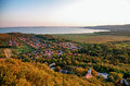 Lake Balaton in sunset ,Hungary Royalty Free Stock Photos